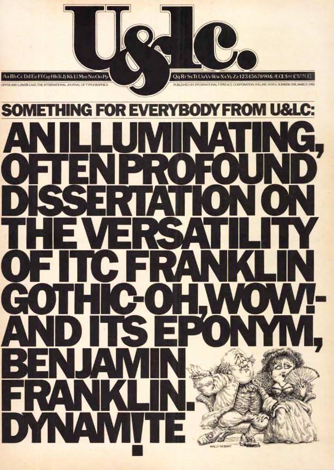 U&lc, Vol. 7 #1, March 1980