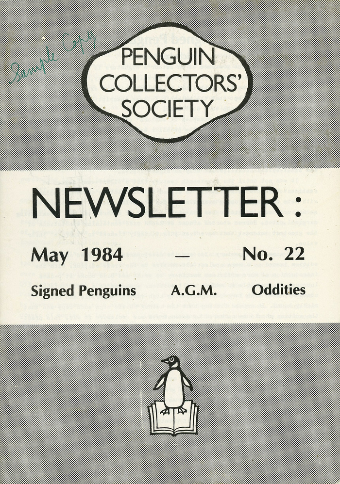 Penguin Collectors' Society Newsletter, No. 22, May 1984