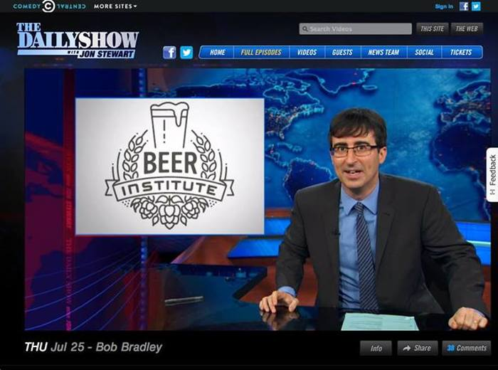 The logo starred in a segment on The Daily Show.