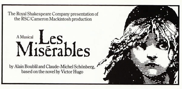 Program from the original 1985 London production.