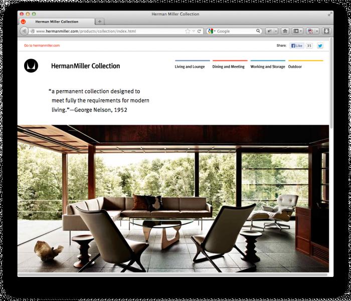 Herman Miller Website 1