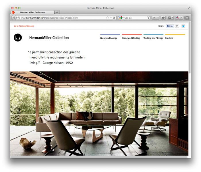 Herman Miller Website 1