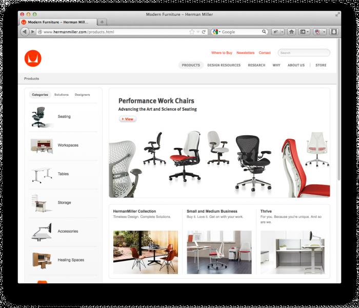Herman Miller Website 4