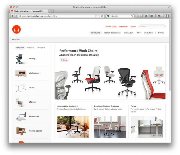 Herman Miller Website 4