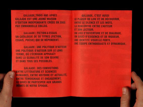 Éditions Galaade book fair brochure 2