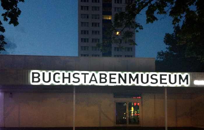 Buchstabenmuseum Berlin sign 1