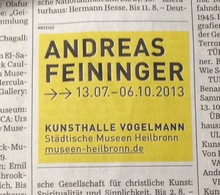 Andreas Feininger at Kunsthalle Vogelmann