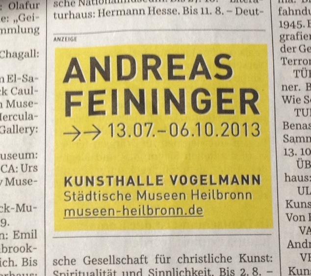 Andreas Feininger at Kunsthalle Vogelmann 1