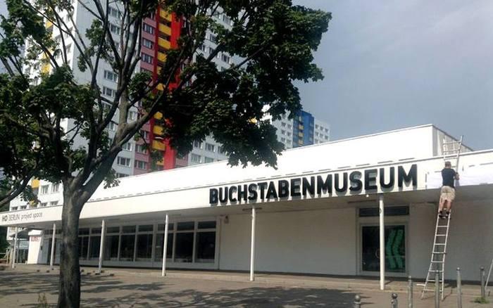 Buchstabenmuseum Berlin Signage 2