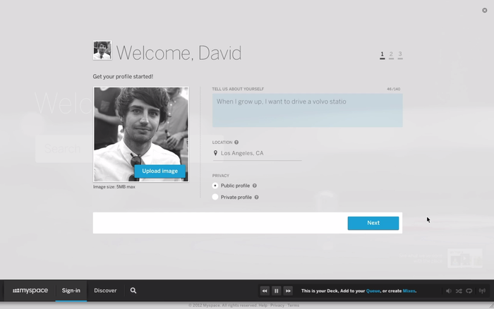 Myspace 2012 Redesign Preview 6