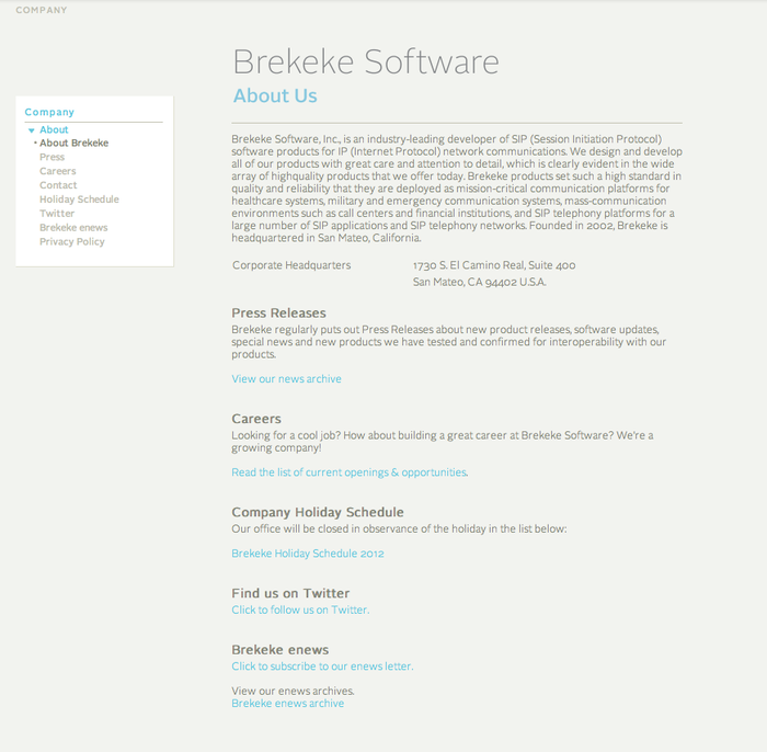 Brekeke Software, Inc. 3
