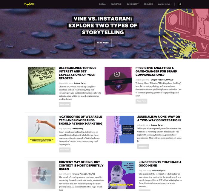 Popditto Website 1