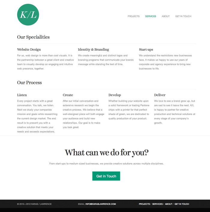 Karas/Lawrence Website 2