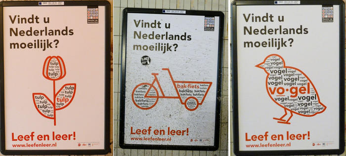 """Vindt u Nederlands moeilijk?"" (Do you find Dutch difficult?)"