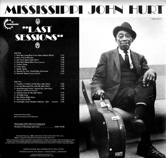 Mississippi John Hurt – Last Sessions album art 2