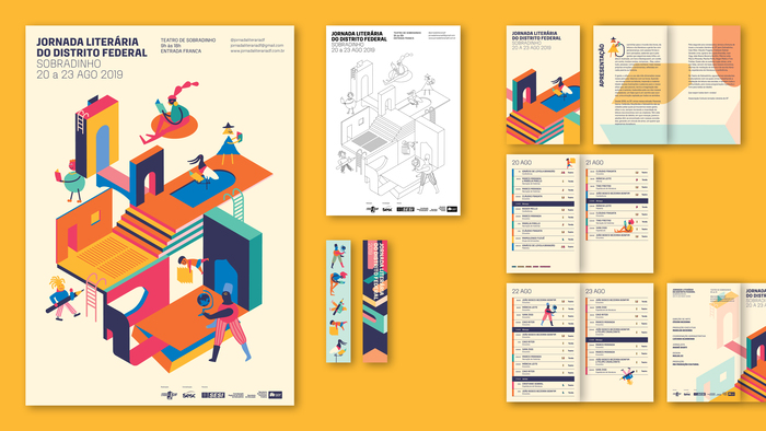 Each institution received and distributed posters in a coloring version, thus promoting the active participation of students