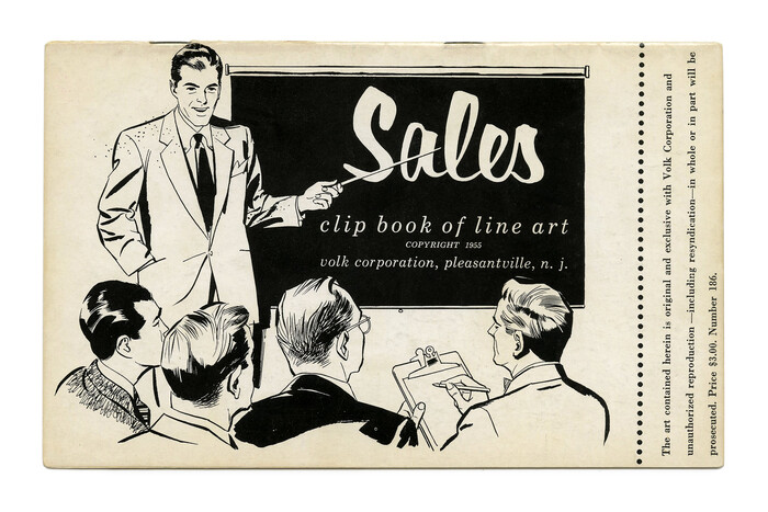 """""""Sales"""" (No. 186) ft.  (or maybe ) with  Italic."""