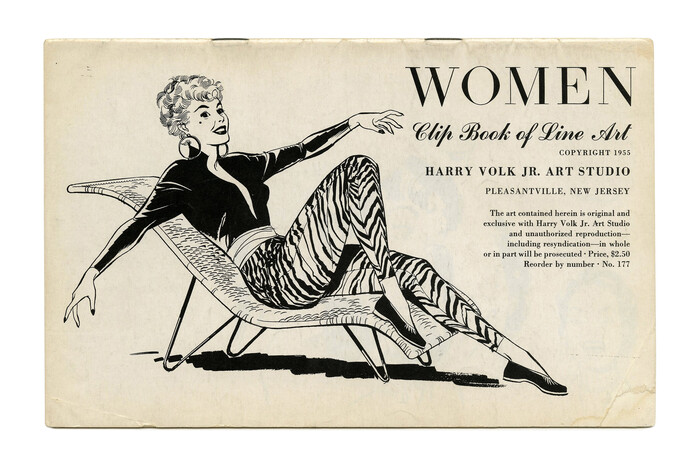 """""""Women"""" (No. 177) ft. what looks like , a Didone with bilateral serifs in places where they usually don't belong. Randolph doesn't appear in 1955 and c.1958 catalogs, so maybe this is a hand-lettered precursor. Additional typefaces include  and ."""