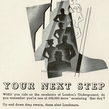 """""""Your next step"""" ad, London Transport Commercial Advertising"""