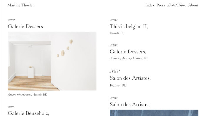 Martine Thoelen website 5