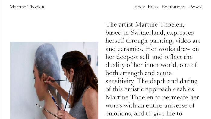 Martine Thoelen website 3