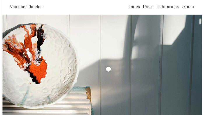 Martine Thoelen website 1
