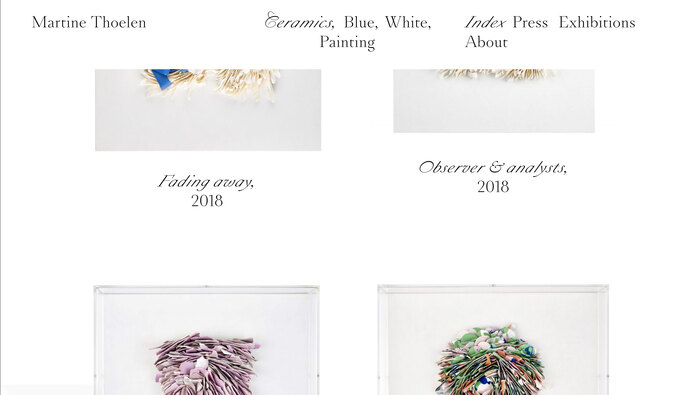 Martine Thoelen website 2