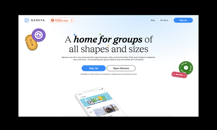 Geneva app website 1
