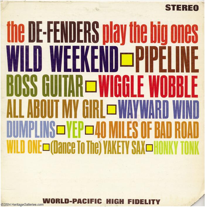 The De-Fenders – The De-Fenders Play The Big Ones album art 3