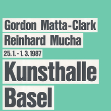 Posters for Kunsthalle Basel, 1982–1988