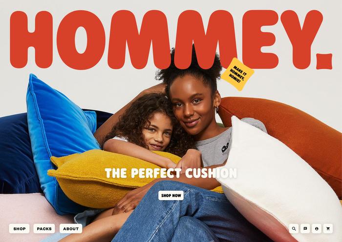 Hommey branding and website 10