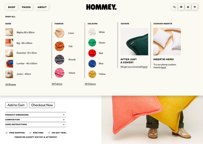 Hommey branding and website 11