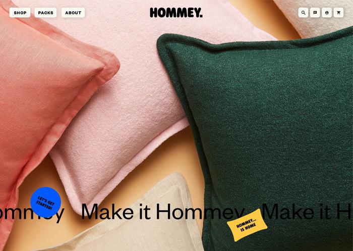 Hommey branding and website 14