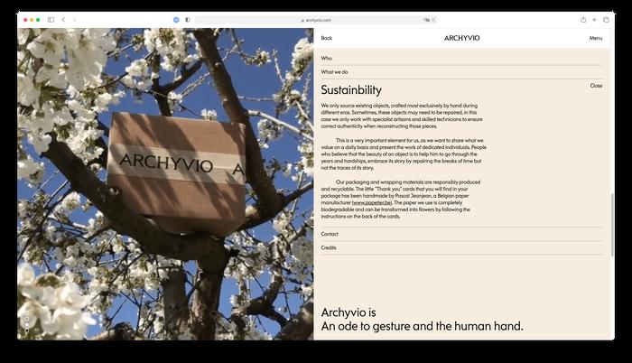 Archyvio website 3