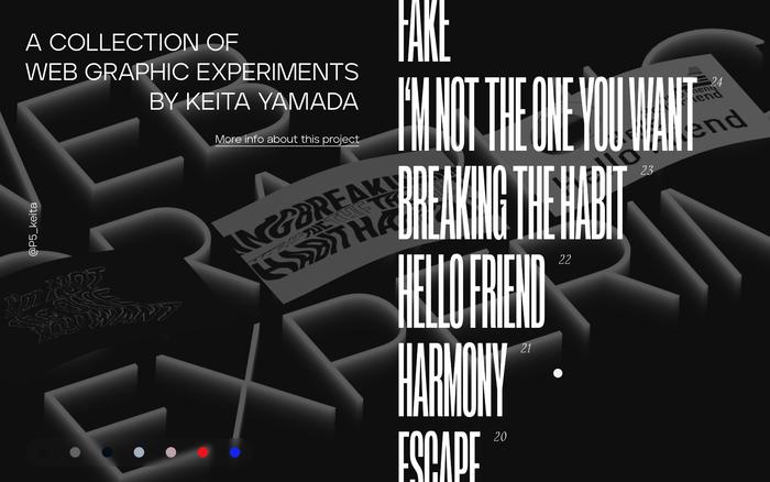 Web Graphic Experiments by Keita Yamada 2
