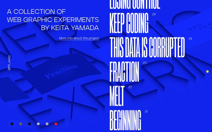 Web Graphic Experiments by Keita Yamada 1