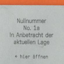 <cite>Nullnummer</cite>, No. 1a