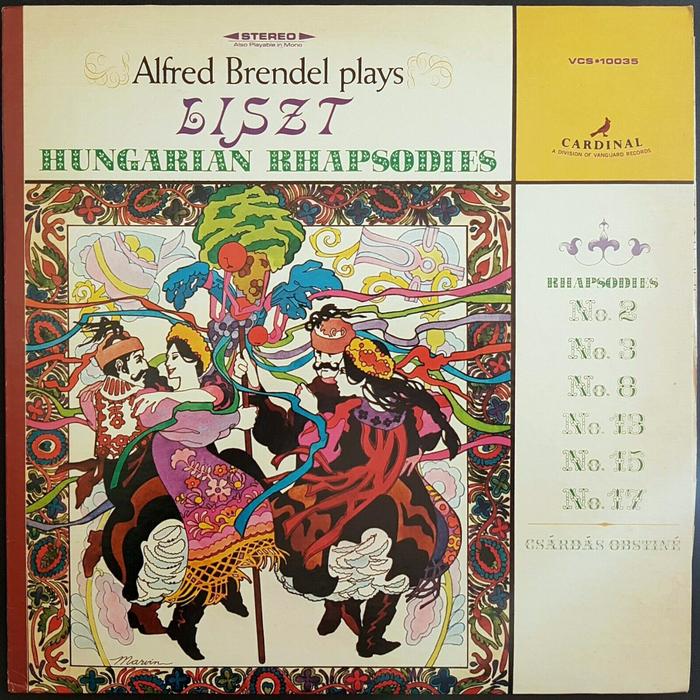 Alfred Brendel – Liszt: Hungarian Rhapsodies album art 1