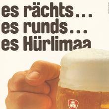 Hürlimann beer poster