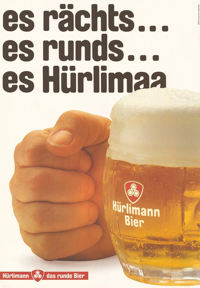 Impuls Werbung AG, 1983, Es rächts… es runds… es Hürlimaa, offset, 128×90.5 cm.