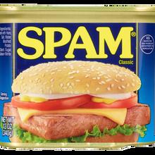 """Spam logo (c.<span class=""""nbsp"""">&nbsp;</span>1987–), cans, website"""