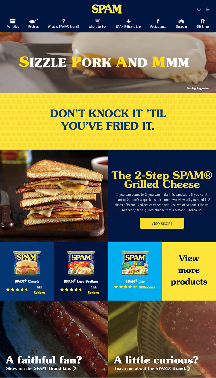 Spam website (2021). ITC Souvenir Demi is used for headlines, and is being paired with  for text.