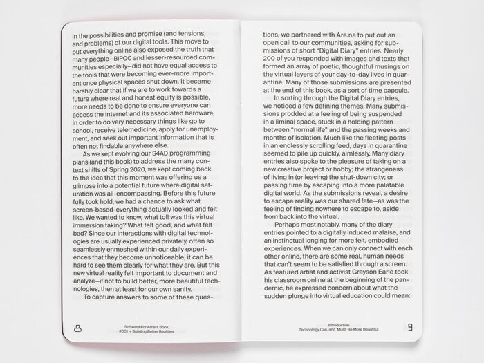 """Software for Artists Book #001, """"Building Better Realities"""" 5"""