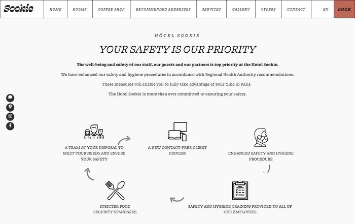 Website detail.