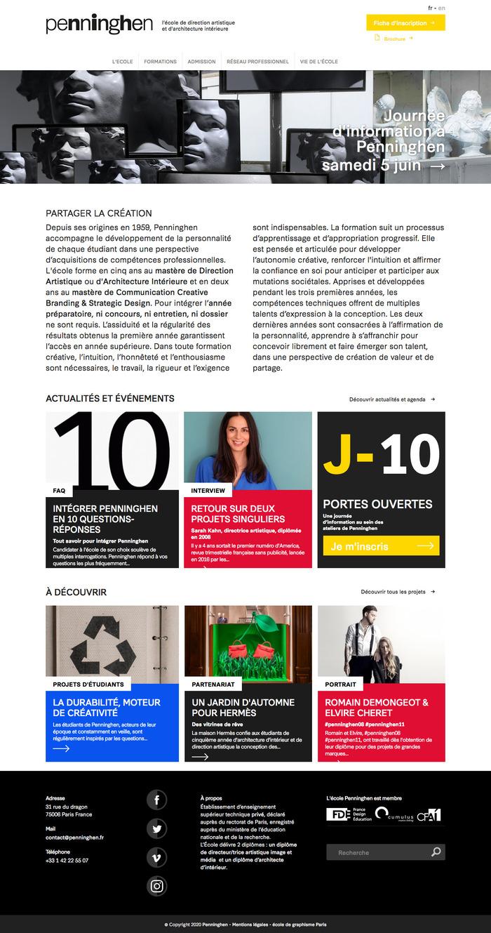 Website homepage (2021).