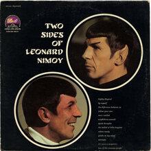 <cite>The Two Sides Of Leonard Nimoy</cite> album art