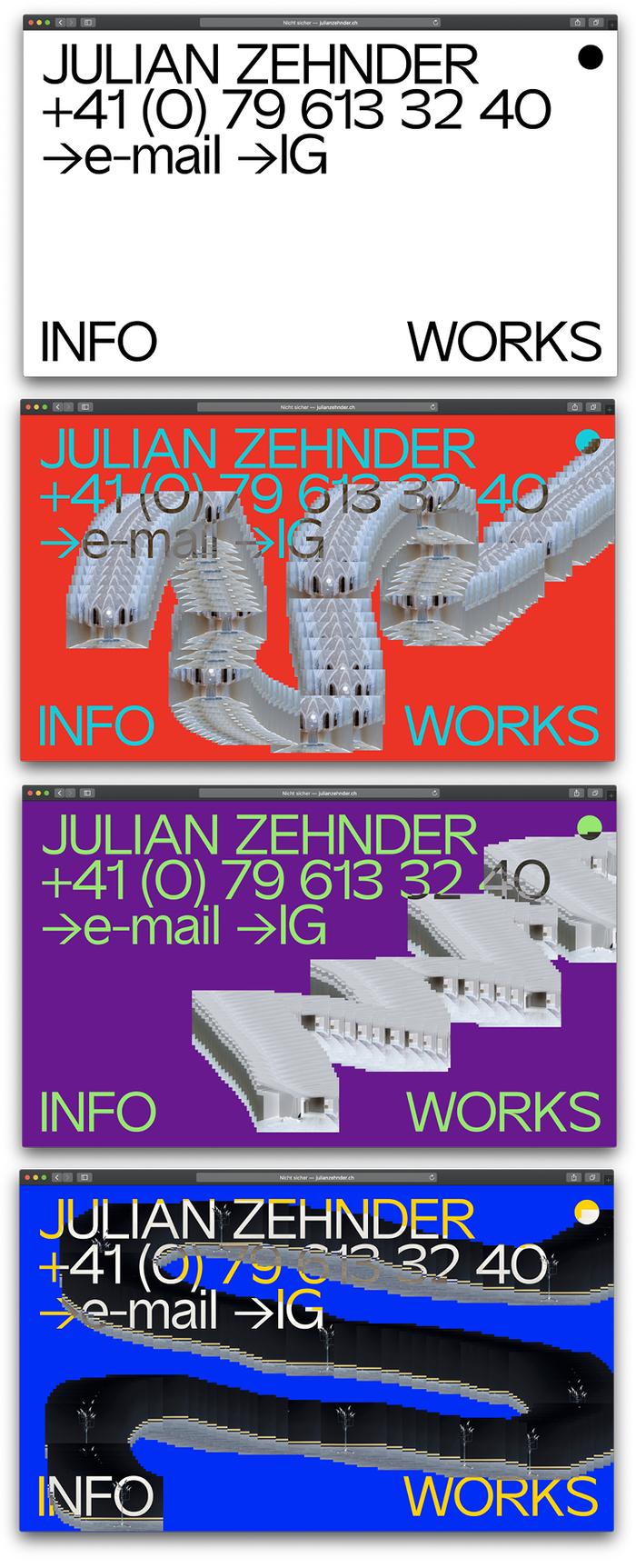 Julian Zehnder website 2