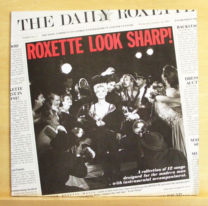 Front cover of the orignal vinyl release with 12 songs.