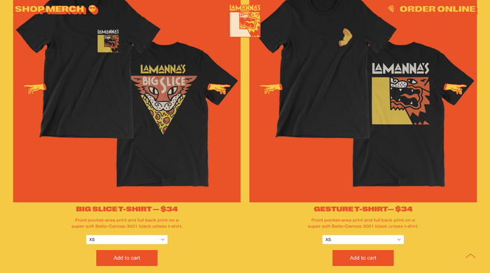 Lamanna's Bakery website 5