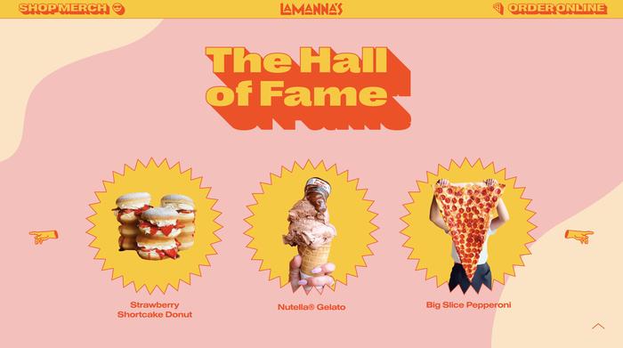 Lamanna's Bakery website 3